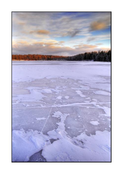 Frozen Sunrise on Lake Jean