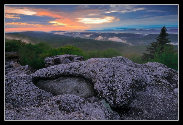 Pothole Rock at Sunrise