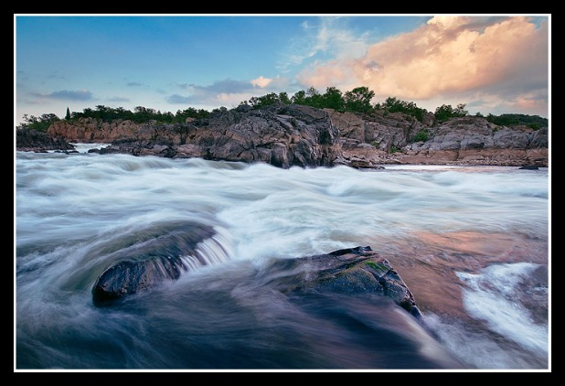 Rapids in Mather Gorge from Fishermans Eddy, Great Falls, VA